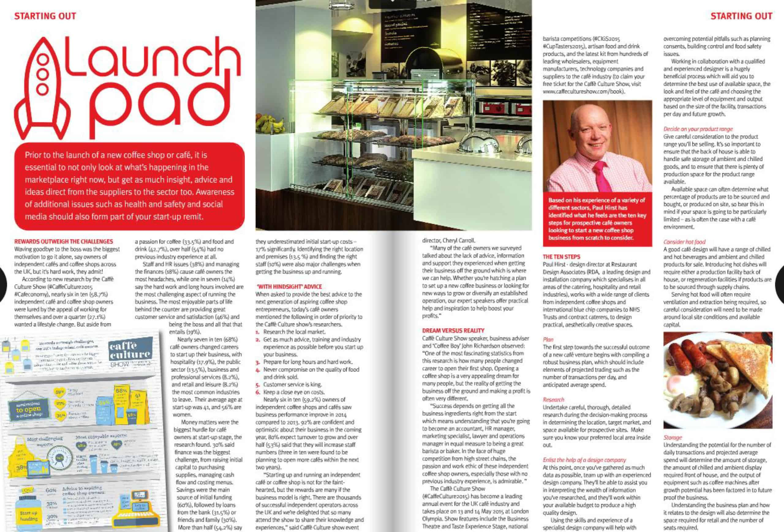 Paul Hirst's 10 steps to opening a cafe
