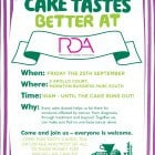 RDA Macmillan Coffee Morning Friday 25th September