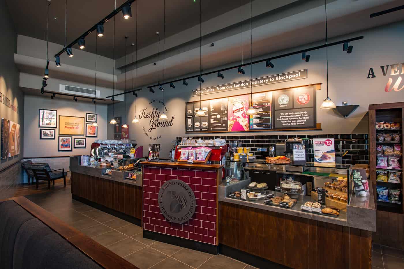 RDA transforms out-dated restaurant into fresh and vibrant Costa Coffee