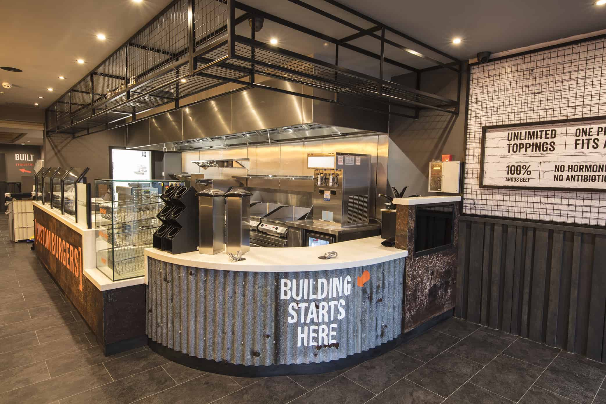 RDA help Built Custom Burger Launch First UK Site