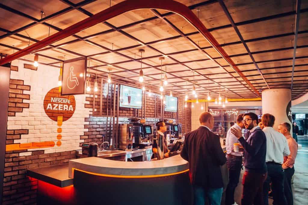 Nescafé azera coffee shop at the o news rda